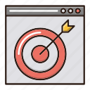 business, finance, page, target icon