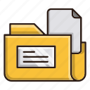 archive, business, files, finance, office icon
