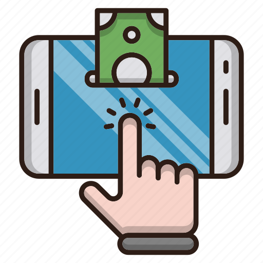 business, click, finance, job, pay icon