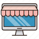 business, finance, market, online, shopping, store icon