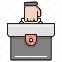 briefcase, business, finance, job icon