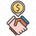 business, contract, deals, finance icon