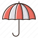 business, finance, insurance, umbrella icon