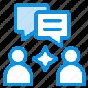 chatting, group, man icon