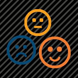 client, feedback, loyalty, mark, rank, review, satisfaction, satisfied, smiles, status, testimonials icon