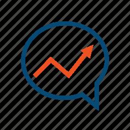 chart, direction, dynamics, monitoring, prediction, prognosis, report, statistics, strategy, trend icon