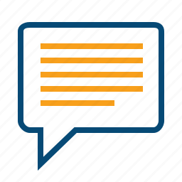 advice, bubble, chat, comment, feedback, notification, review, speech, text icon