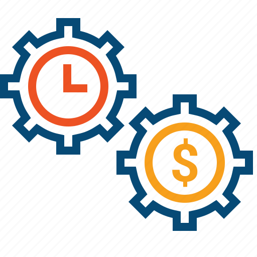 cogwheels, computation, compute, costs, effectiveness, expenses, leasing, money, optimization, optimize, performance management, resources, spend, time, waste icon