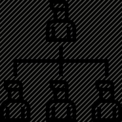 boss, employee, hierachy, leader, level, team, teamwork icon