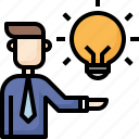 bulb, business, creative, hand, idea, think, user