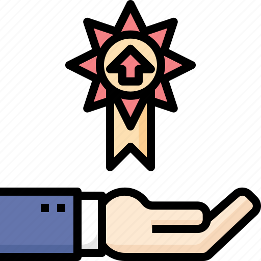 Advance, business, hand, level, promote, success, up icon - Download on Iconfinder