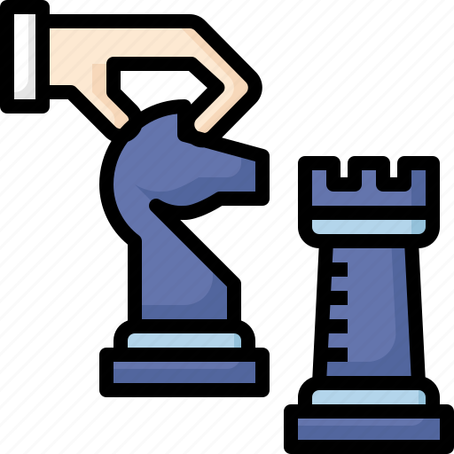 business, chess, management, marketing, planning, strategy, workflow icon