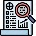 business, chart, check, list, report, startistic icon