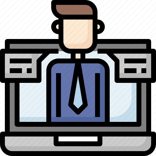 business, call, chat, communication, conference, conversation, video icon