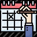 business, calendar, deadline, hand, mark, meeting, reminder
