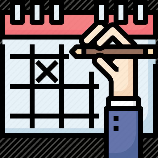 Business, calendar, deadline, hand, mark, meeting, reminder icon - Download on Iconfinder