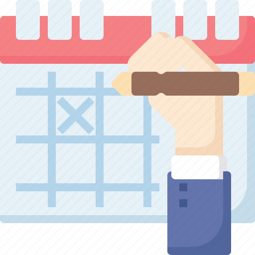 business, calendar, deadline, hand, mark, meeting, reminder icon