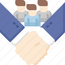 business, hand, shake, strategy, team, teamwork, user icon