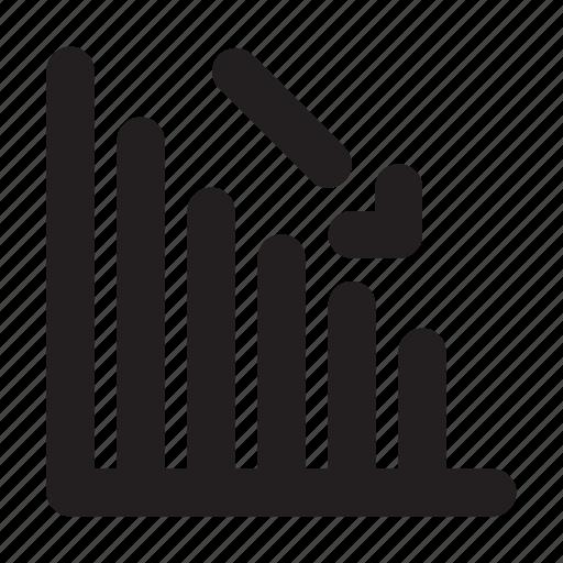 Decline, diagram, down icon - Download on Iconfinder