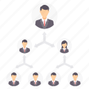 circle, group, hierarchy, management, organization, structure icon