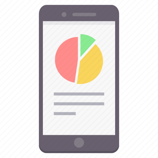 chart, data, diagram, graph, mobile icon