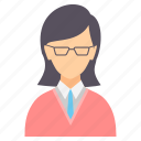 avatar, college, education, girl, school, student, study icon
