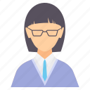 avatar, education, female, girl, graduation, student, study icon