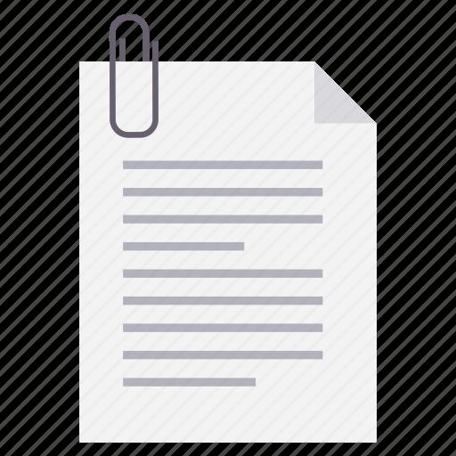 attach, attachment, document, file, format, paperclip icon