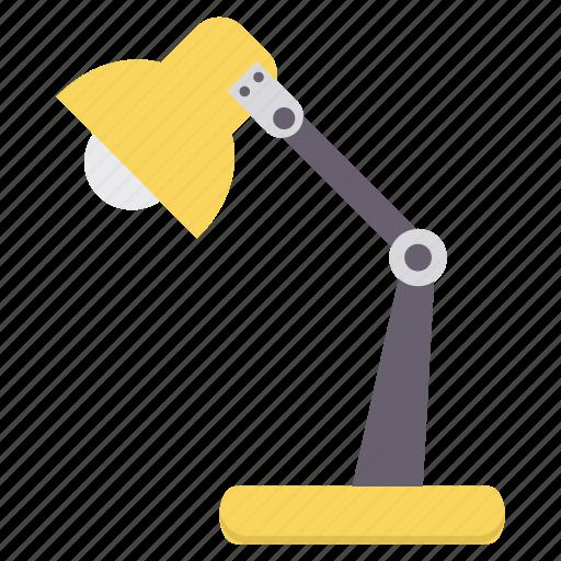 bulb, lamp, light, lightbulb, office, table, work icon