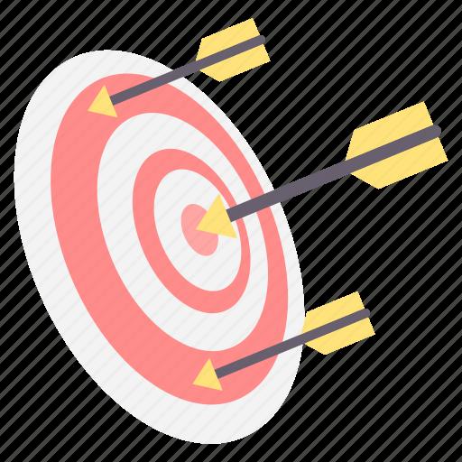 aim, focus, goal, shoot, success, target icon
