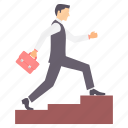 business, growth, ladder, office, success icon