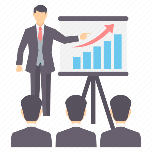 business, conference, meeting, office, presentation, report icon
