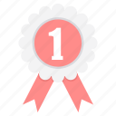 badge, business, number one, report, star, success, winner icon