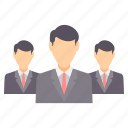 business, group, man, management, office, people, team icon