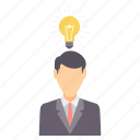 bulb, business, creative, idea, innovation, light, mind icon