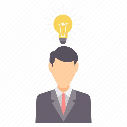 bulb, business, creative, idea, innovation, light, mind icon
