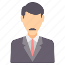 avatar, boss, business, employee, office, profile, user icon