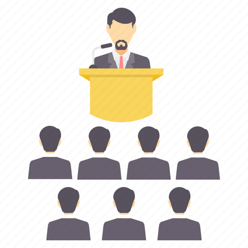 business, community, conference, group, meeting, presentation, teamwork icon