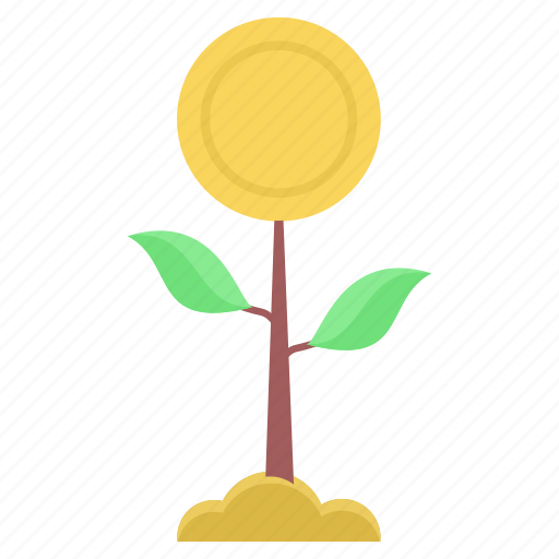 flower, grow, make, money, plant, tree icon
