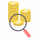 bank, coin, coins, currency, dollar, earnings, payment icon