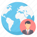 business, connection, employee, global, international, internet, network icon