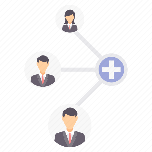 business, connection, group, network, social icon