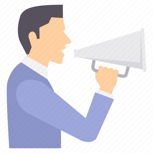 Announce, broadcast, announcement, bullhorn, loud, megaphone, sound icon - Download on Iconfinder