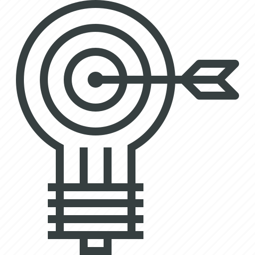 bulb, business, idea, light, marketing, power, success icon