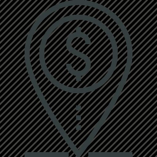 bank, finance, financial, loan, mark, money, place, shopping icon