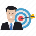 audience targeting, business man, business target, customer, market research, marketing, targeting icon