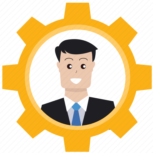 audit, businessman, gear, market target, marketing, optimization, seo icon