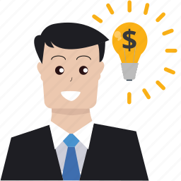 boss, brainstorming, business idea, creativity, marketing, seo, solution icon