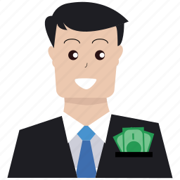 boss, business, customer, invest, investor, market target, rich icon