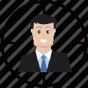 aim, businessman, compaign, customer, marketing, target, targeted
